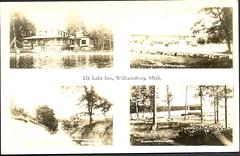 Traverse Elk Lake Inn Multiview (UpNorth Memories - Donald (Don) Harrison) Tags: lake heritage history vintage antique michigan memories traverse postcards upnorth wexford manistee leelanau benzie upnorthmemories donharrison puremichigan