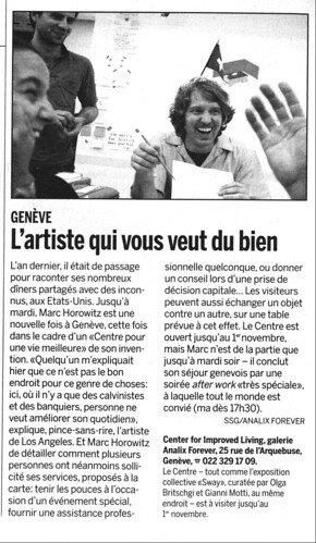 Geneva Courrier TCFIL article