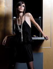 Assisting for Fiona Garden (Kris Krug) Tags: woman stockings girl fashion pose model little shorthair leaning leggings blackdress