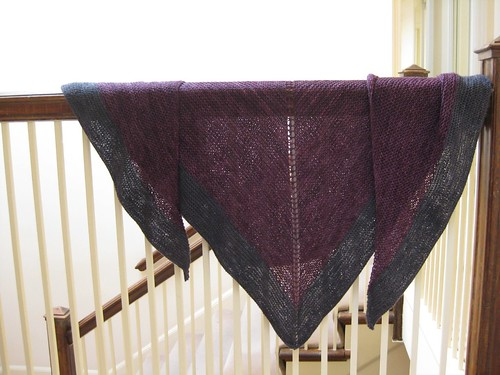 Purple and pewter shawl