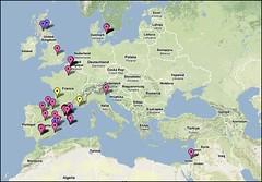 Swine flu map
