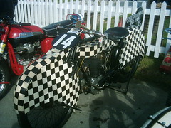 The Shuttleworth Speed Demon - George Formby TT Film bike - Motorbike paddock - Goodwood Revival 2010 (74Mex) Tags: film bike speed george motorbike demon tt shuttleworth goodwood 2010 paddock revival formby the
