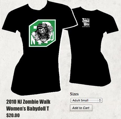 NJ Zombie Baby T-shirt