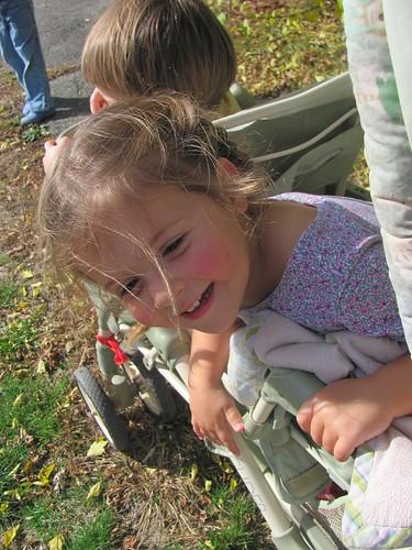 Sophie in the stroller