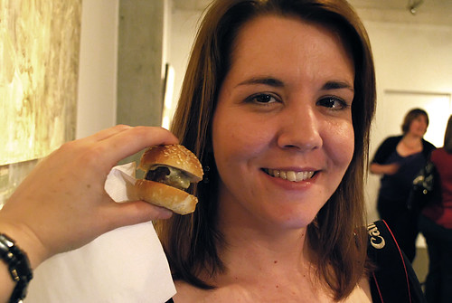 how a mini burger compares to Amy Urquhart's head