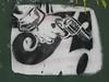 weapon (erikthered) Tags: street nyc art brooklyn graffiti stencil gun weapon williamsburg