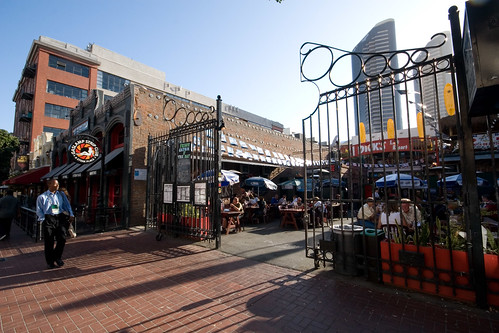 Gaslamp Quarter, San Diego by gary j wood