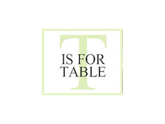 T is for Table logo from the store in Palm Beach Gardens