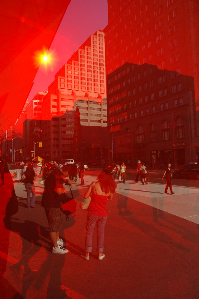Bloor Street in Red