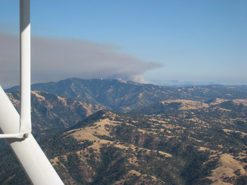 Smoke from Fire near Mt. Hamilton