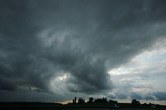 trouble in wisconsin (Ben Syverson) Tags: cloud storm wisconsin clouds farm roadtrip silo freeway thunderstorm severeweather sigma1020mm sigma1020 severethunderstorm wisconsinthunderstorms