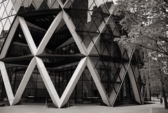 XXX (Angela Loporchio) Tags: city blackandwhite bw london architecture bn londra architettura bianconero 30stmaryaxe biancoenero thegherkin cityoflondon swissrebuilding fosterandpartners swissrecentre theswissretower angelaloporchio