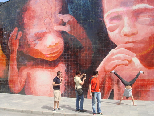 El mural de los fetos
