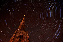 Lichfield star trails (Corica) Tags: uk longexposure greatbritain england church stars stmichaels staffordshire startrails lichfield blending polaris corica canon1755mm canon400d