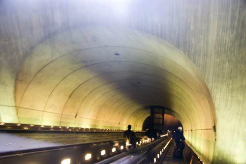 Rosslyn Metro Station in Washington DC