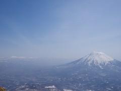 後方羊蹄山と札幌近郊の山々