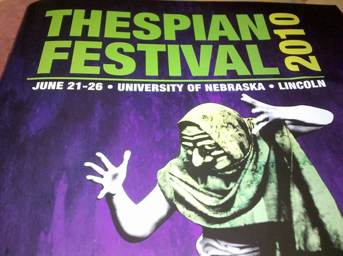 Program cover from the Thespian Festival