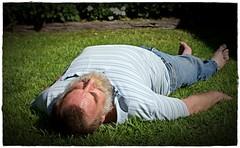 294/365 What a day for a daydream (Allan Saw) Tags: portrait man male self garden sleep lawn sp daydream