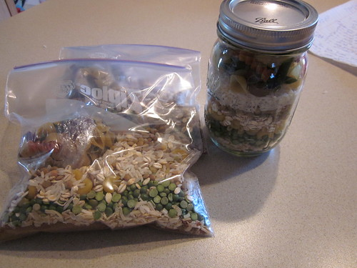 Bean jar and baggies