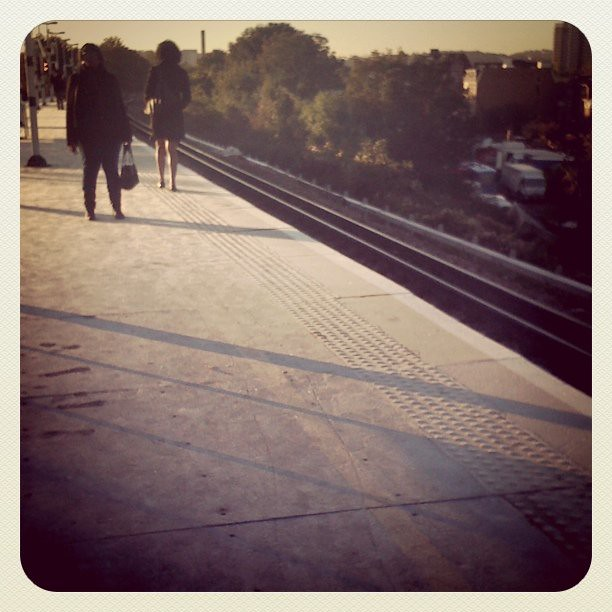 Ironic use of the earlybird filter! Frost on the platform!