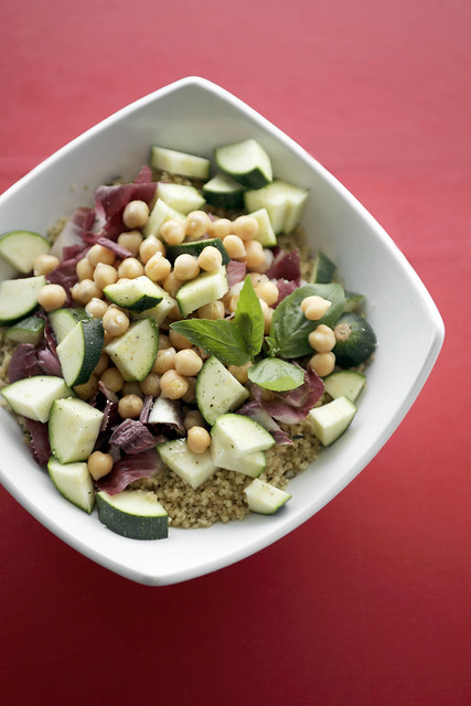 Chickpeas, Courgettes and Red Chicory Couscous