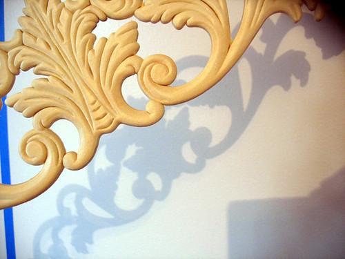 wooden scrollwork