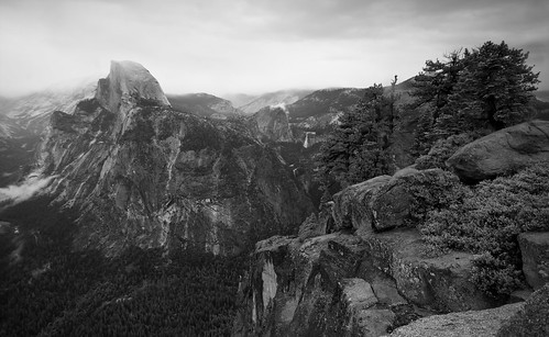 Glacier Point Vista 4 (B&W)