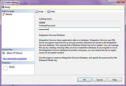 SSMS Create Catalog Step2