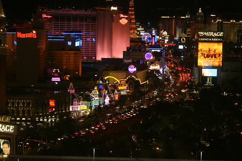 Looking down the strip