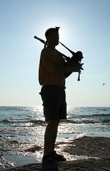 Shores of Lake Ontario... (The.Navigator) Tags: music ontario canada sillouette bagpipes phantom sandbanks eyetower