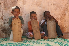 Koran school (Ferdinand Reus) Tags: africa travel school sahara boys sand education desert islam religion tablet mauritania verses afrique koran sahel
