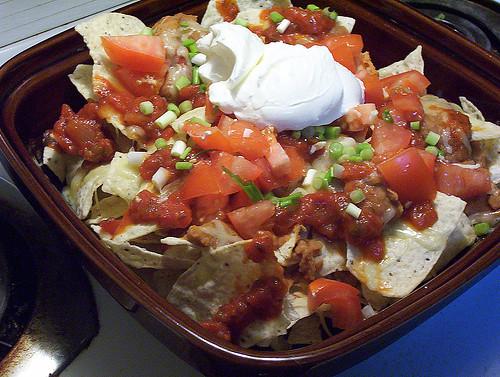 Assiette de nachos repas
