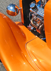 (cw3283) Tags: orange cars ford antique curves engine vehicles motor headlight antiquecars antiquecarshow highlightandshadow boothscorner