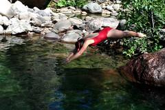Baignade aux vasques de la confluence Bocca Bianca/Cavicchia