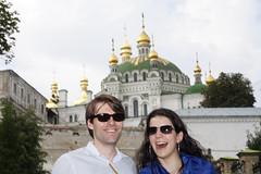 Ana and Michael in Kiev. (Ana B's Pics) Tags: ukraine kiev kievpechersklavra cavesmonastery