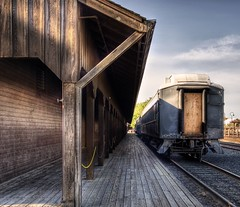 The Railroad Depot (Stuck in Customs) Tags: pictures california lighting ca wood light panorama art texture colors lines station modern composition train work reflections painting photography intense nikon perfect exposure shoot artist mood photographer shot angle photos unique background details perspective atmosphere images best edge processing pro depot sacramento framing capture tones hdr masterpiece treatment mostviewed highquality stuckincustoms treyratcliff