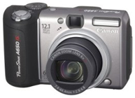 Canon Powershot A650 IS -- Front View