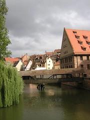 View from the oldest bridge in Nuremberg (buzzt) Tags: bridge water germany deutschland nikon wasser nuremberg medieval coolpix middle brcke ages nrnberg nuernberg 2100 mittelalter e2100 top20bavaria top20bavaria20