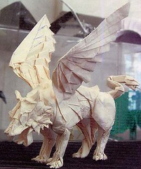 Griffin (Marchosias 2006) (o'sorigami) Tags: art paper origami lion ryo complex griffin paperfolding gryphon folding cerebus satoshi griffon cerberus satoshikamiya kamiya marchosias