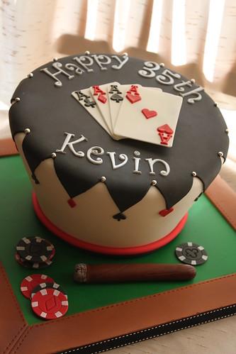 Wonky poker theme cake