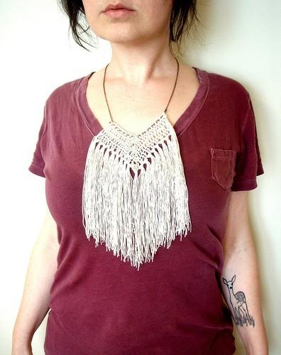 softspoken fringe necklace