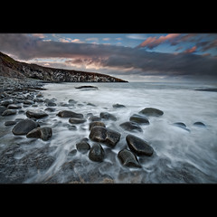Cullernose Point      . (Reed Ingram Weir) Tags: longexposure sunset seascape photography diy nikon rocks yeah explore northumberland filter 12 milky frontpage holder birdpoo
