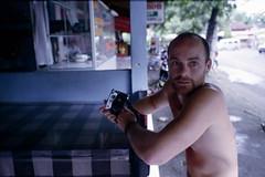 him and his leica (Keitha Haycock [rambling woman]) Tags: bali mountains film beach 35mm indonesia adventures lalala
