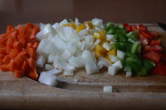 vegetables, chopped