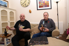 Big Al and Watt - with 'that' pasty (Leeber) Tags: bigaldavies alcohol pasty wattdabney