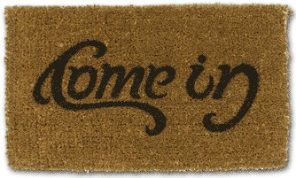 come in doormat illusin