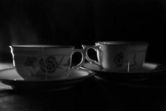 tea for two (petite_noire) Tags: blackandwhite bw white black cup for nikon tea cups teafortwo krakoff d80 nikond80