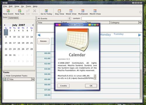 sunbird 0.5 en anglais sous linux x86_64