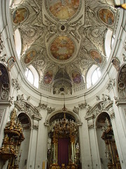 Servitenkirche (earthmagnified) Tags: vienna wien church architecture choir austria europe interior kirche ceiling nave baroque osterreich fresco stucco rococo rococco