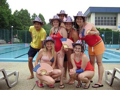 Patriotic Lifeguards at the Pool in Negishi